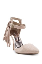 Qupid Mixi Fringe High Heel Pump Brown