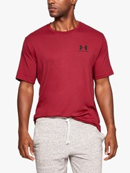 Under Armour Sportstyle Chest Logo T Shirt Red