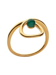 Links Of London Serpentine Gold And Green Chalcedony Ring Gold Yellow