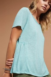 Anthropologie Tie Back Tee Turquoise