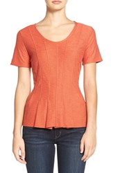 Women's Hinge Seam Detail Peplum Top