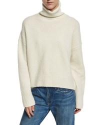 Vince Oversized Knit Turtleneck Sweater Winter White