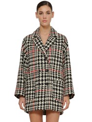 Red Valentino Prince Of Wales Double Breasted Coat Multicolor