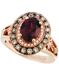 Le Vian Garnet 2 Ct. T.W. And Diamond 3 4 Ct. T.W. Ring In 14K Rose Gold