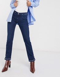 Mih Jeans Straight Leg In Blue