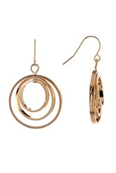 Vince Camuto Orbital Frontal Hoop Drop Earrings Gold 01