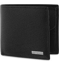 Hugo Boss Signature Textured Leather Coin Wallet Black