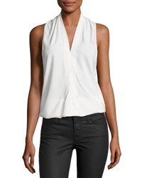 Ramy Brook Robi Sleeveless Crepe Top Ivory