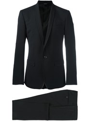 Dolce And Gabbana Stitch Detail Dinner Suit Black