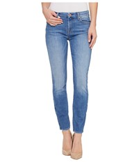 7 For All Mankind The Ankle Skinny W Grinded Hem In Adelaide Bright Blue Adelaide Bright Blue Women's Jeans