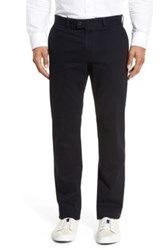 Brax 'Evans' Flat Front Chinos Blue