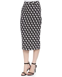 A.L.C. Bell Dancers Print Midi Pencil Skirt