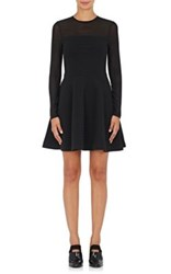 Opening Ceremony Women's Fit And Flare Long Sleeve Dress Black