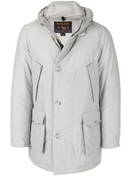 Woolrich Hooded Parka Cotton Feather Down Polyamide S Grey
