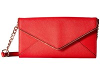 Rebecca Minkoff Cleo Wallet On A Chain Cherry Wallet Handbags Red