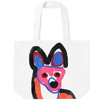 Maison Kitsune Acide Fox Tote Bag White