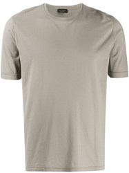 Dell'oglio Plain Crew Neck T Shirt Neutrals