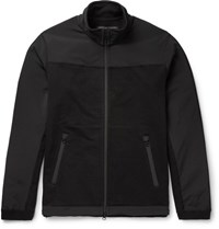 Reigning Champ Crepe Panelled Cotton Jersey Jacket Black