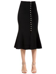 David Koma Embellished Striped Cady Skirt