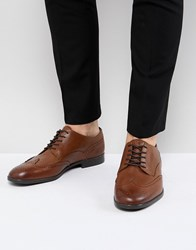 Hudson H By Aylesbury Leather Brogues In Tan