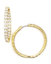 35Mm Yellow Gold Diamond Hoop Earrings 5.55Ct Roberto Coin Red