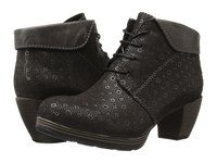 Wolky Jacquerie Gray Drops Women's Lace Up Boots Black