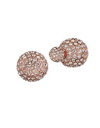 Anne Klein Two Way Pave Stud Earrings Pink