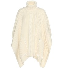 Fendi Wool Poncho White