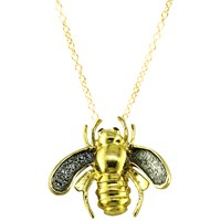 London Road 9Ct Yellow Gold Kew Bugs Diamond Detail Bee Pendant Necklace Gold