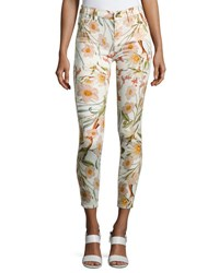 7 For All Mankind The Ankle Skinny Floral Print Jeans Multi