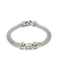 Effy Diamond 18K Yellow Gold Sterling Silver Bracelet