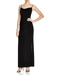 Laundry By Shelli Segal Spaghetti Strap Shirred Gown Black