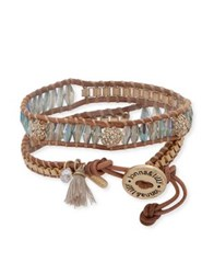 Lonna And Lilly Crystal Wrap Bracelet Brown