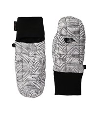 The North Face Thermoball Mitt Tnf Black Twillogram Print Over Mits Gloves