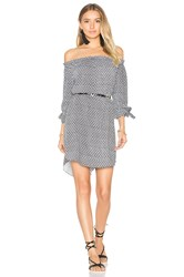 Seafolly Geo Print Off Shoulder Dress Black And White