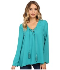 Christin Michaels Licorice Top Deep Teal Lagoon Women's Clothing Green