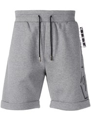 Philipp Plein Statement Jogging Shorts Grey