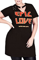City Chic Plus Size Women's Epic Love Stretch Cotton Tunic Black