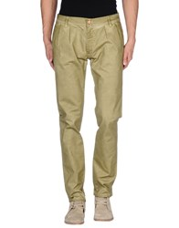 Minimal Trousers Casual Trousers Men Acid Green