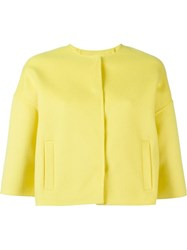 P.A.R.O.S.H. Cropped Jacket Yellow And Orange