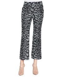 3.1 Phillip Lim Snake Print Cropped Flared Pants