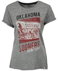 '47 Brand Women's Oklahoma Sooners Hero T Shirt Gray