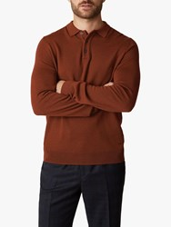 Jaeger Merino Racking Detail Polo Top Light Brown