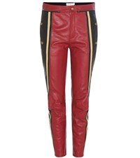 Chloe Leather Trousers Red