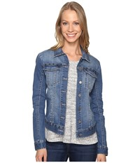 Calvin Klein Jeans Studded Trucker Jacket Trix Women's Coat Blue