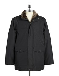 Andrew Marc New York Faux Fur Lined Parka Black