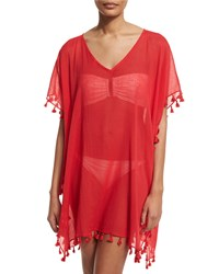 Seafolly Amnesia V Neck Caftan Coverup Chili Red
