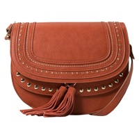 Mango Fringed Across Body Bag Medium Brown