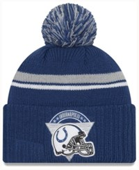 New Era Indianapolis Colts Diamond Stacker Knit Hat Blue Gray
