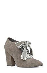 Nine West Women's Sweeorn Lace Up Bootie Dark Grey Dark Grey Suede